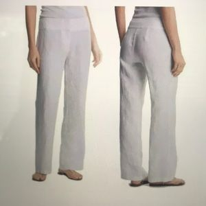 Eileen Fisher White Linen Pants - Size S